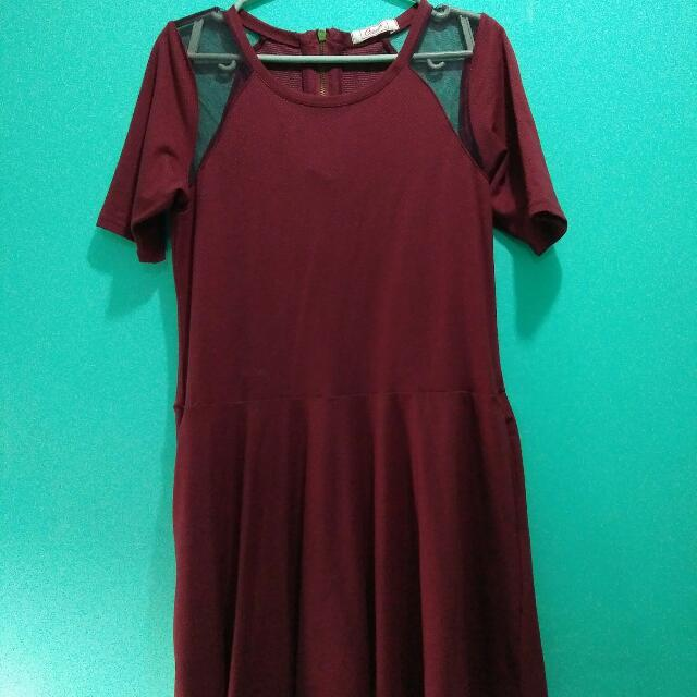 Crissa Marsala Dress