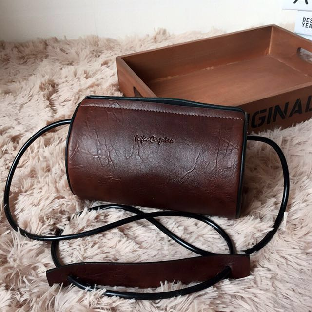 Crossbody Vintage Cylindrical Bag