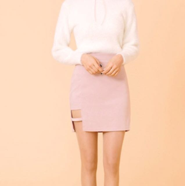 Cutout mini skirt
