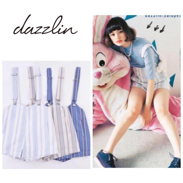 Dazzlin直條紋西裝短褲
