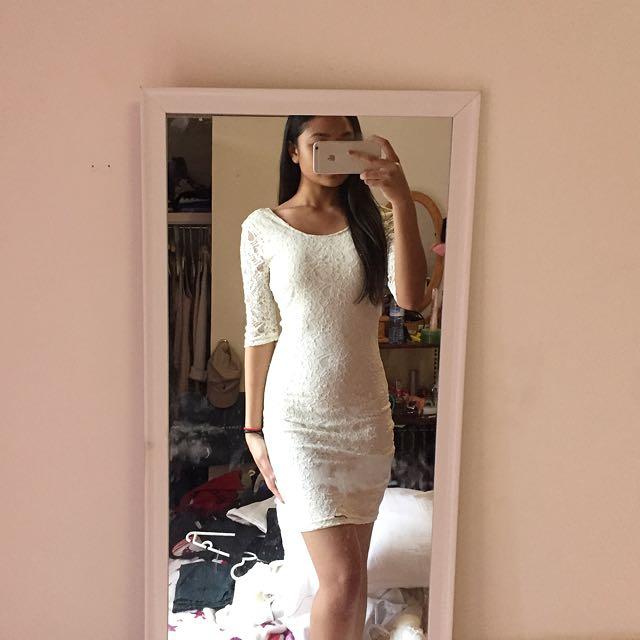 dotti white lace dress