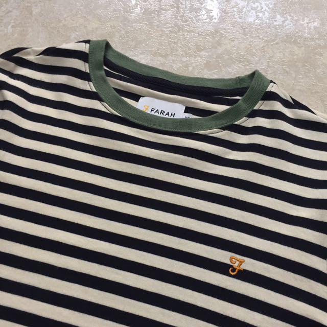 5dd751df3a0294 Farah ally stripe long sleeve top slim fit in navy, Men's Fashion ...