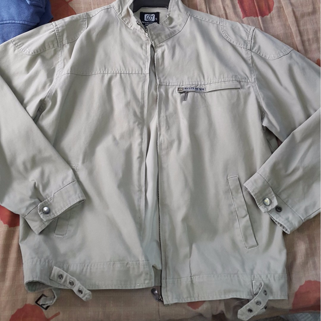 FG Denim jacket size small but can fit to large