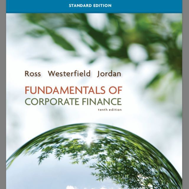 Fundamentals Of Corporate Finance 10 10th Tenth Edition Ross