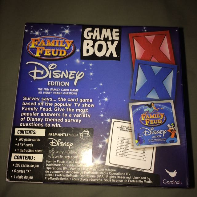 Game box family feud Disney edution