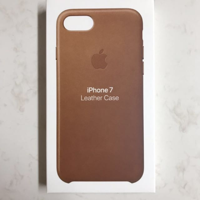Genuine Apple iPhone 7 Leather case - Saddle Brown