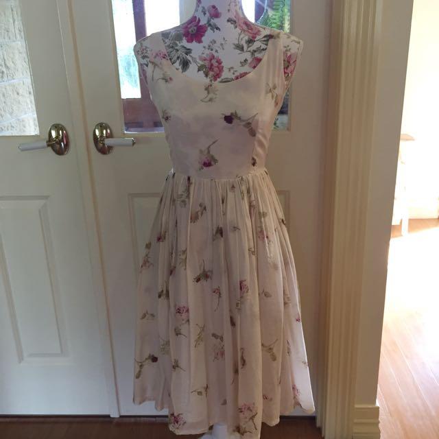 Gorgeous Cream Floral Dress