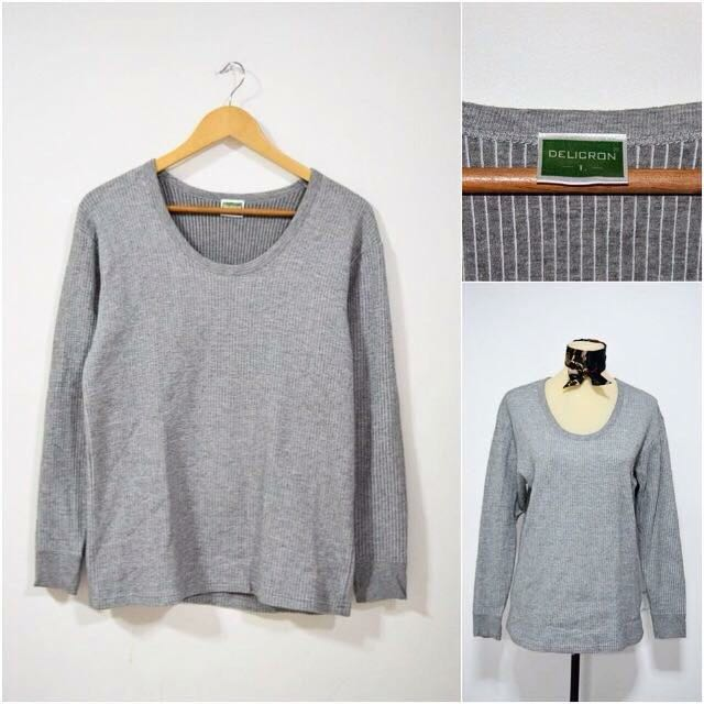 Gray Pullover Top