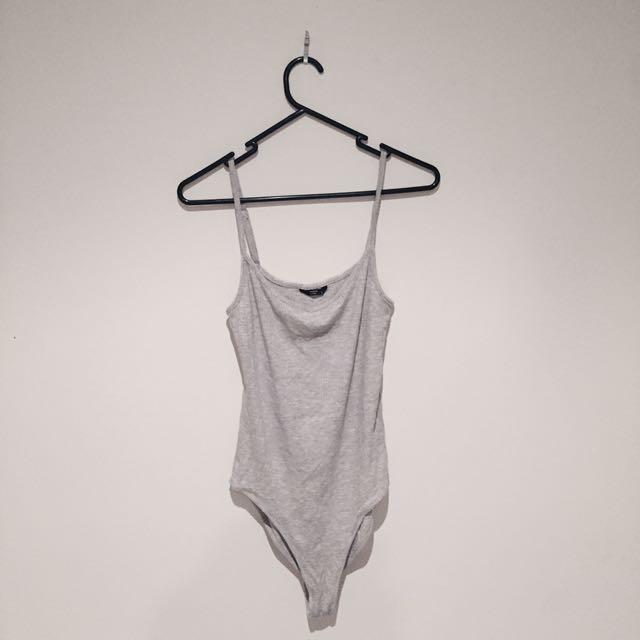 Grey Bodysuit Size S