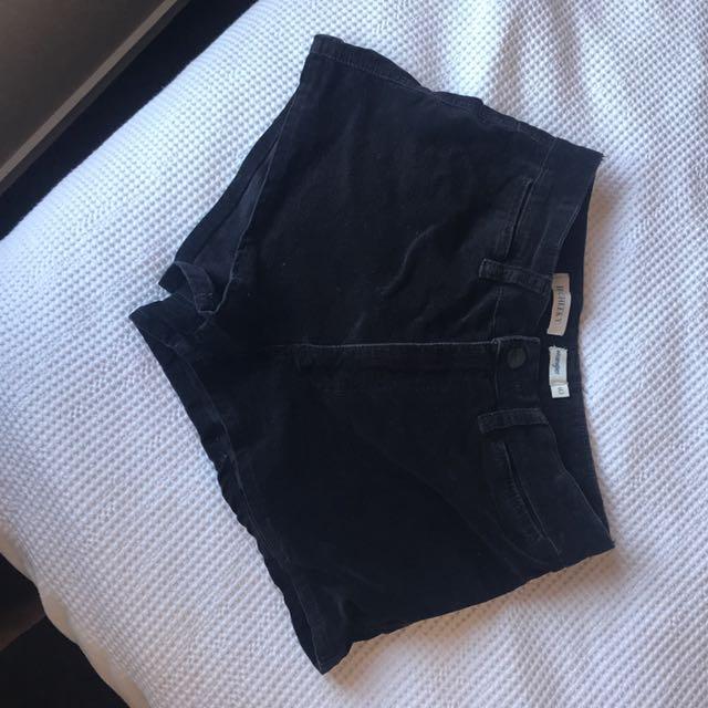 High wasted wrangler shorts