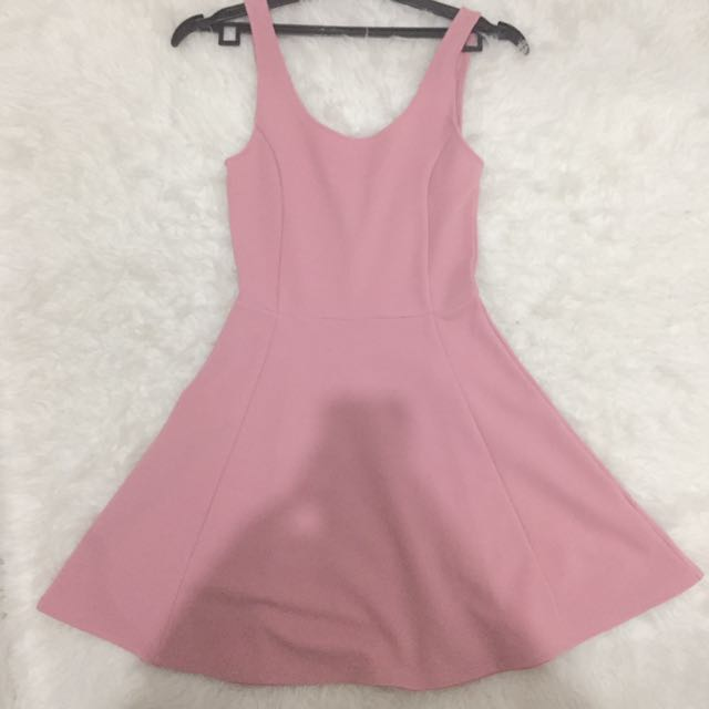 H&M Pink Flare Backless Dress