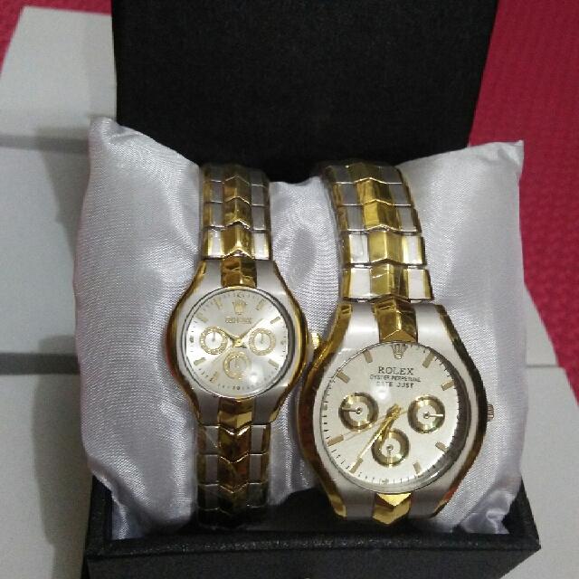 Jam Tangan Rolex Couple Celini Rantai