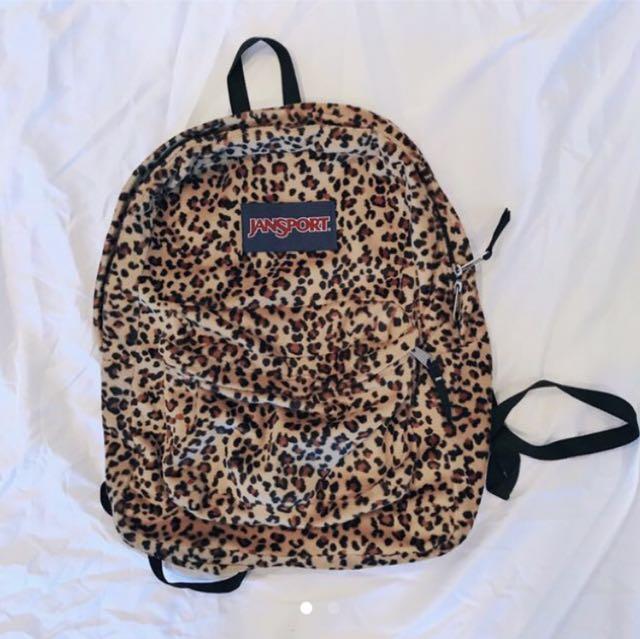 Jansport fur backpack