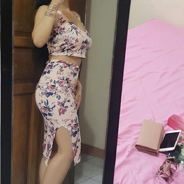 Jenner Dress Terno Body Con . Highwaist  Skirt