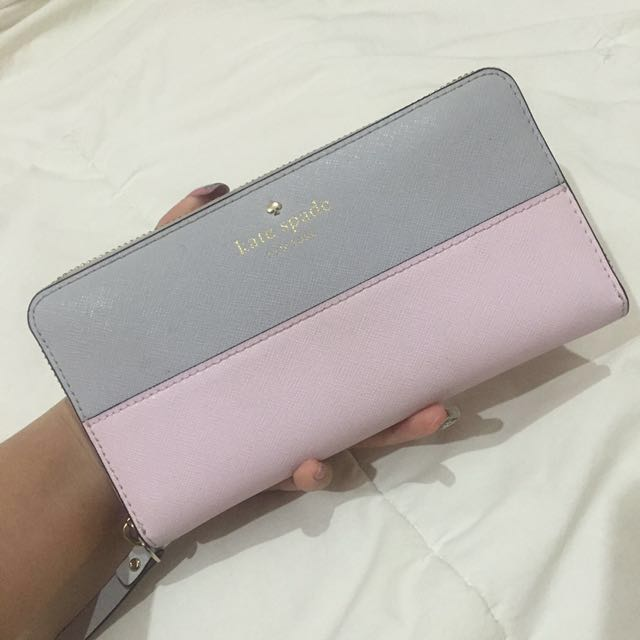 Kate Spade Wallet in pink and grey