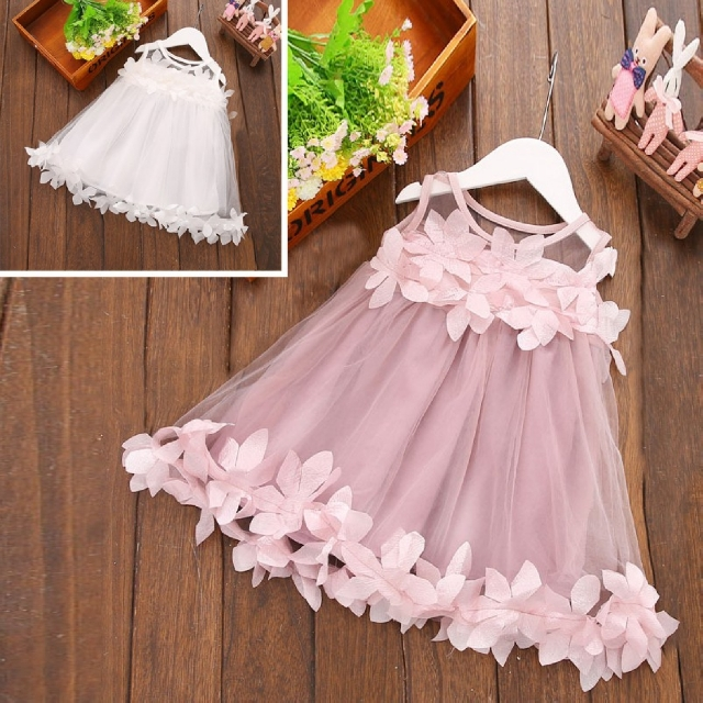 Kids Girl Flower Girl Princess Evening Dress