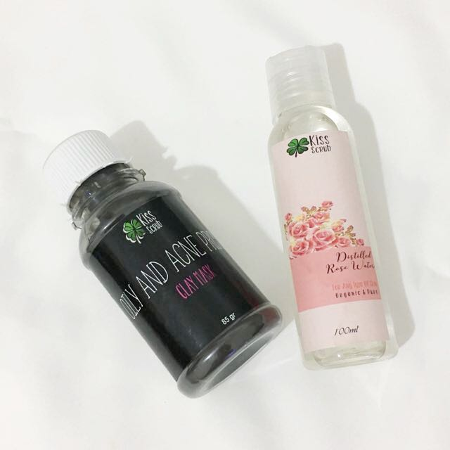 KISS SCRUB - Acne Prone Mask + Rose Water