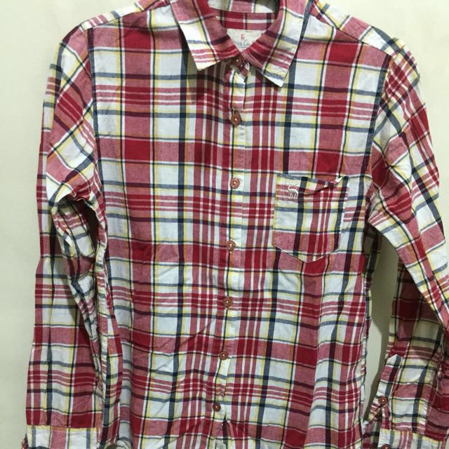 Long sleeves polo (checkered)