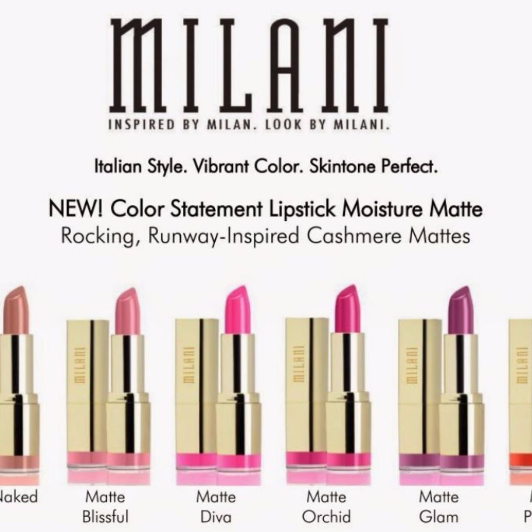 Milani Color Statement MATTE Lipstick YOU CHOOSE MADE IN USA RED PINK BROWN