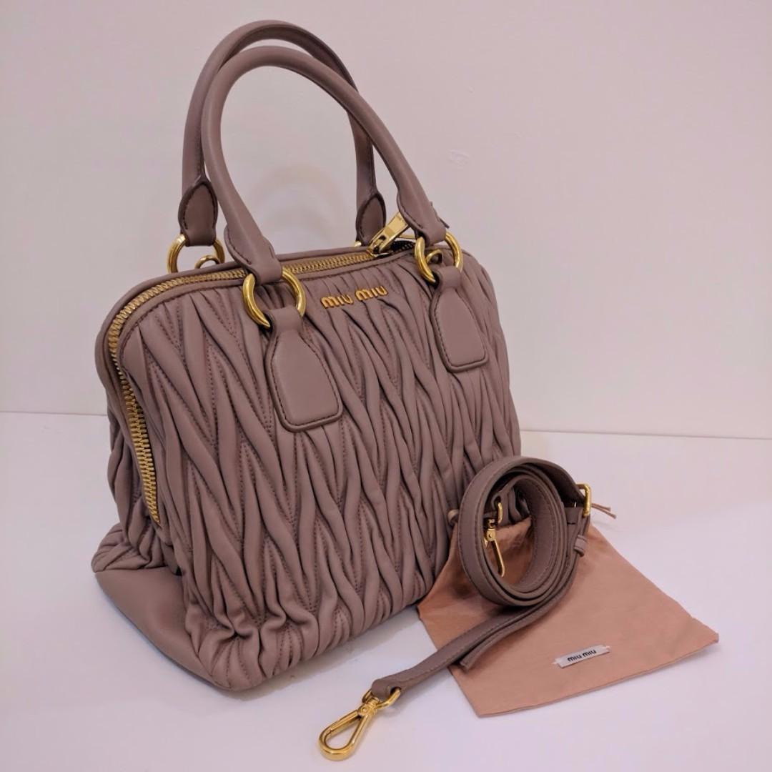 776ac8bfb0b9 Miu Miu Matelasse Top Handle Bag