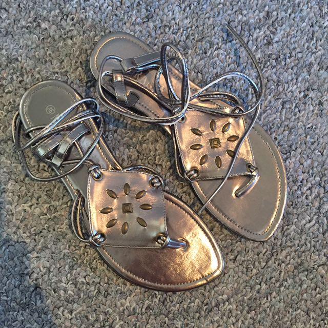 Morandi European Lace Up Sandals