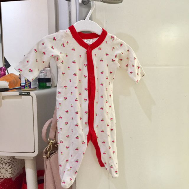 NEXT Baby cherry red jumpsuit