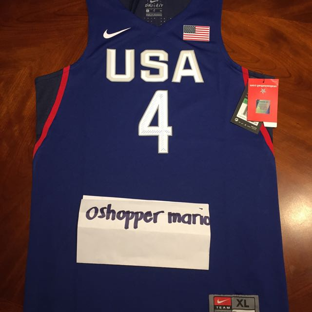 newest collection 1915e 2ecdd NIKE USA TEAM JERSEY STEPH CURRY 4 YOUTH XL 17x26 BNWT SRP ...