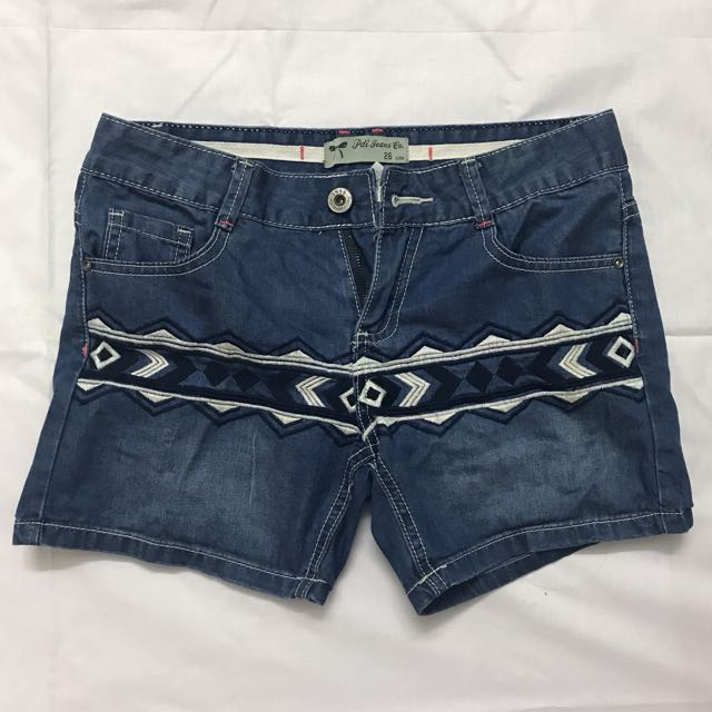 Padini Embroidered Jeans Shorts
