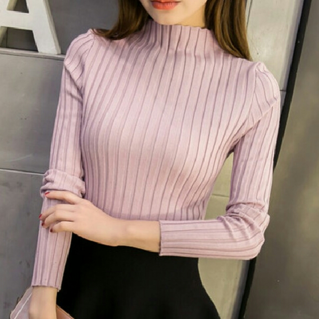 Baby Pink Tight Sweater