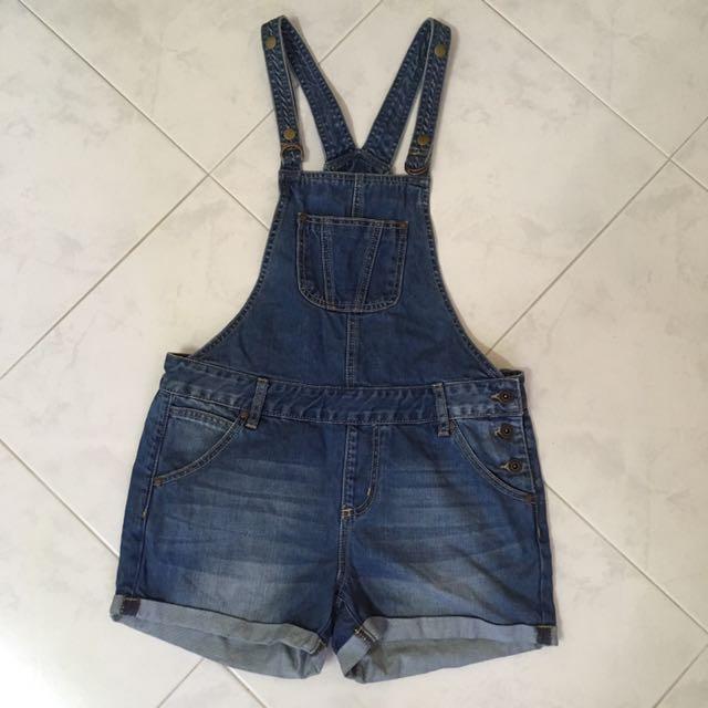 d2b45bff426 Preloved HUSH PUPPIES denim dungaree, Women's Fashion, Clothes ...