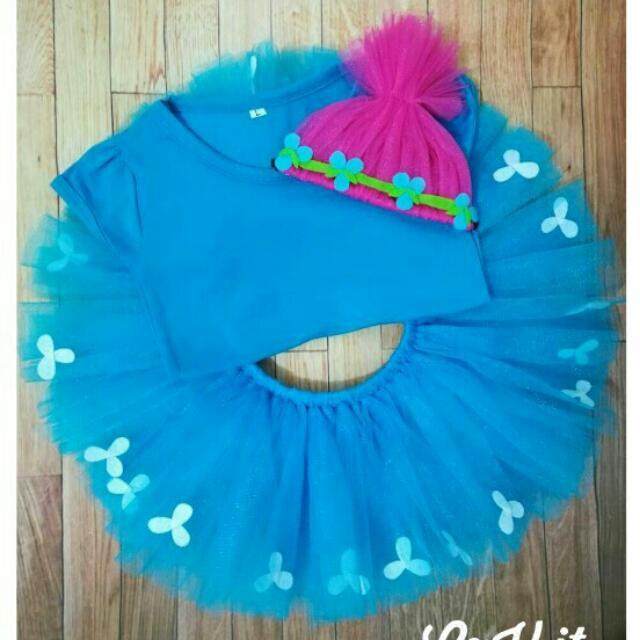 f8026030f Princess Poppy Trolls Inspired Costume, Babies & Kids, Girls' Apparel on  Carousell