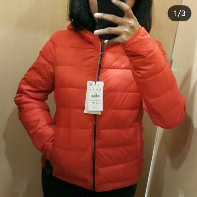 Puffer Bomber Pull&bear Woman Red