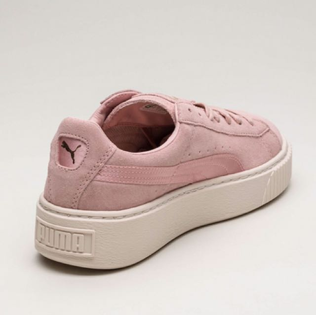 promo code 5a903 3eb7f Puma suede satin platform trainers in pink, Women's Fashion ...