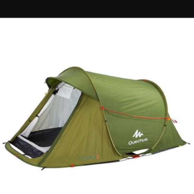 photo photo photo  sc 1 st  Carousell & Quechua 2 seconds tent 2 man - Green Color Sports Sports u0026 Games ...