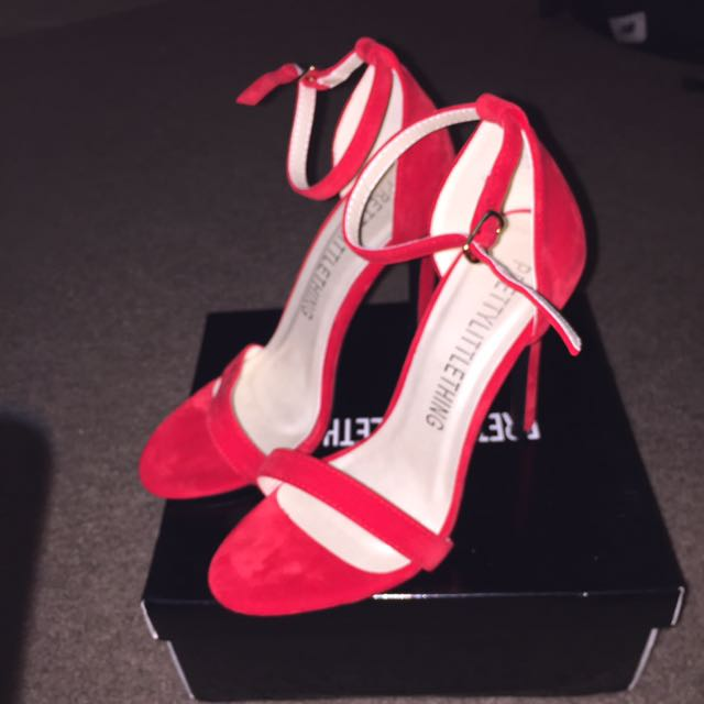 Red Strap Heels size 6