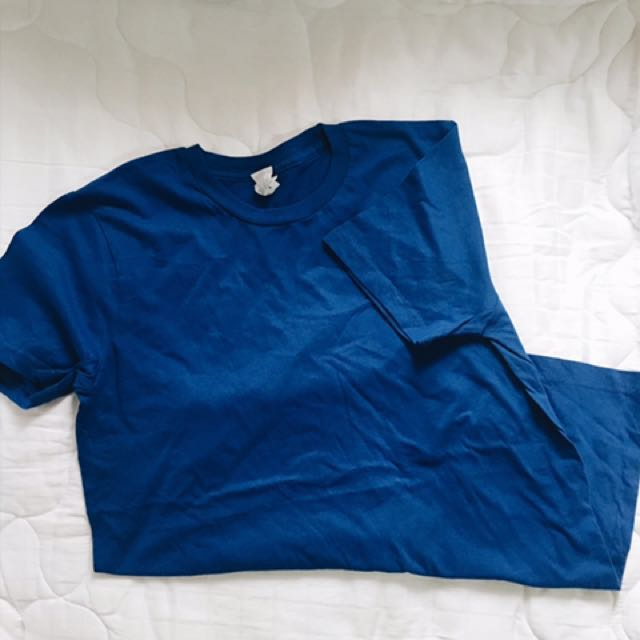 Royal blue cotton tshirt (4pcs)