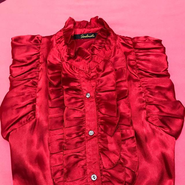 Seoulmate satin red