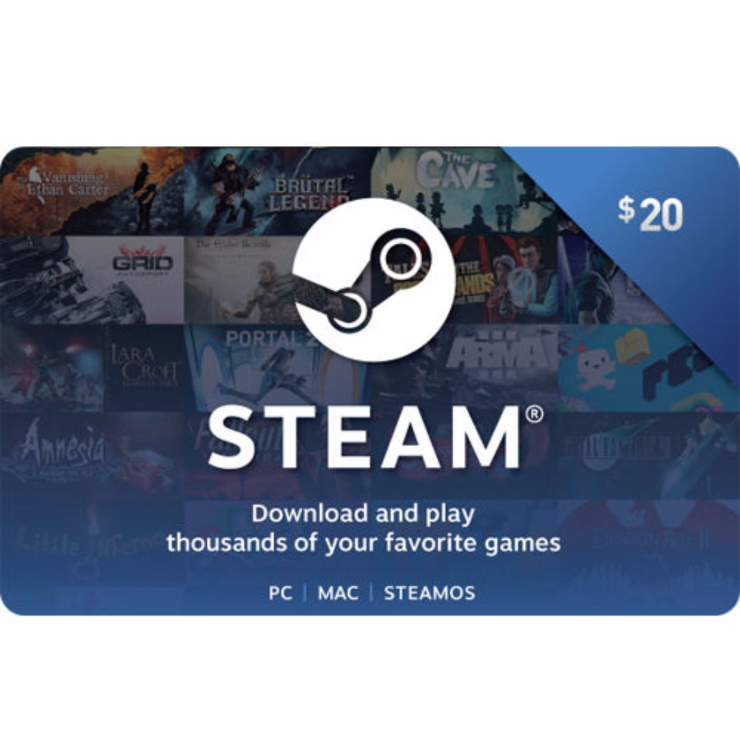 Steam (Valve) Digital Wallet Code $20 / $50 / $100 - Fast Email Delivery