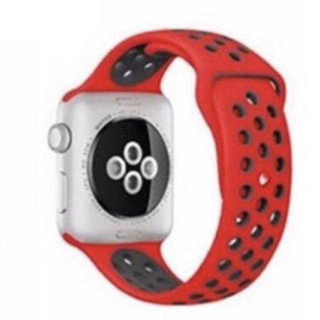 Strap Iwatch Apple Watch Nike Sport Band 42mm RED