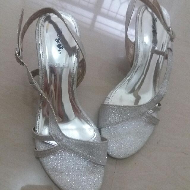 SUGAR - Glittery Silver sandal