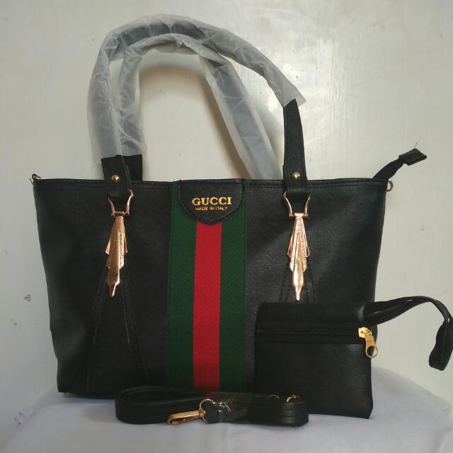 Tas Wanita Hand Bag Gucci Shoper Seri Hitam