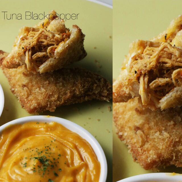 Tuna blackpapper Sandwich Goreng