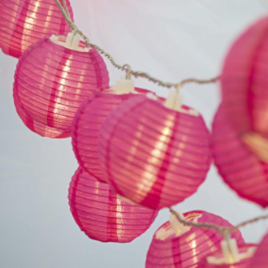 TYPO Mini Lanterns Fuschia