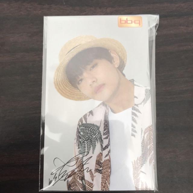 V and Suga BBQ BTS photocard