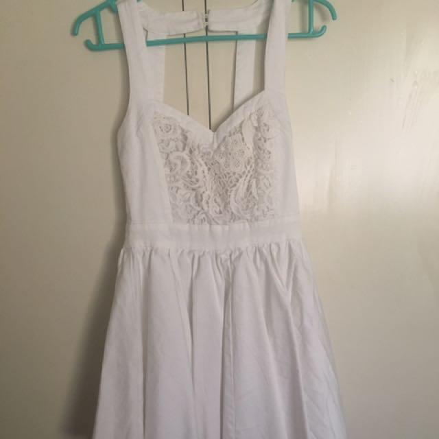White backless sundress