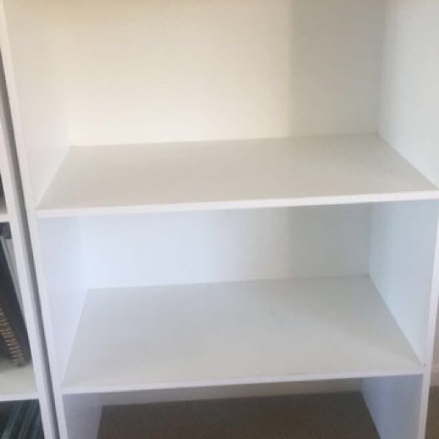 White shelves x 3