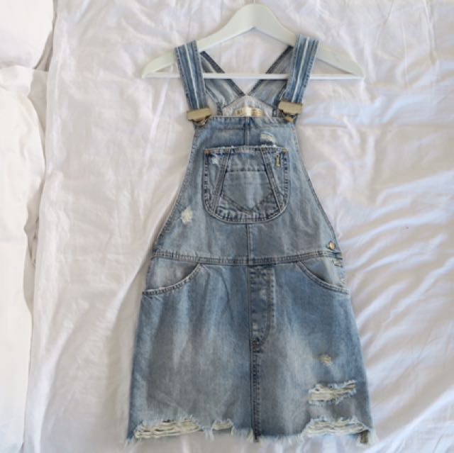 ZARA Denim Pinafore Size XS 6