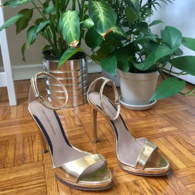 Zara Gold Stilettos