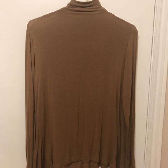 Zara mustard brown turtleneck top