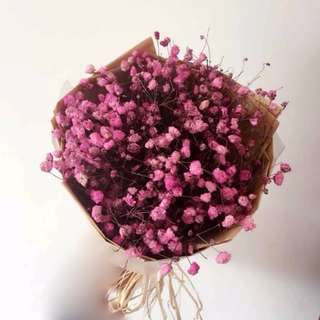 pink baby breaths bouquet small - hope